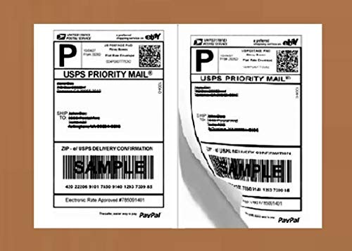 200 Half Sheet Laser/Ink Jet Shipping Labels USPS UPS FedEx Address ()