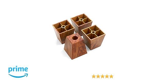 ... de plástico para muebles muebles Posavasos sofá sillón para muebles (plástico en marrón atornillar vetas de madera: Amazon.es: Bricolaje y herramientas