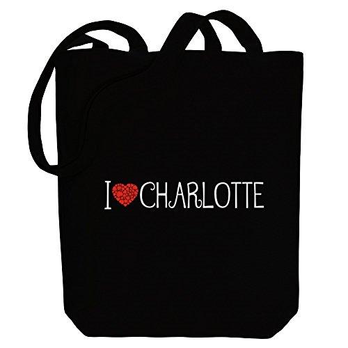 Idakoos I love Charlotte cool style - Weibliche Namen - Bereich für Taschen UtdoO
