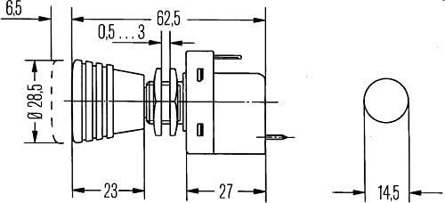HELLA 6ED 004 778-011 Interrupteur viss/é