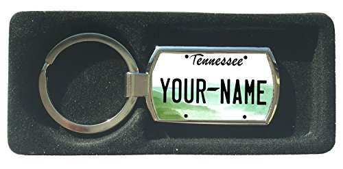 BleuReign(TM) Personalized Custom Name Tennesse State License Plate Metal Keychain