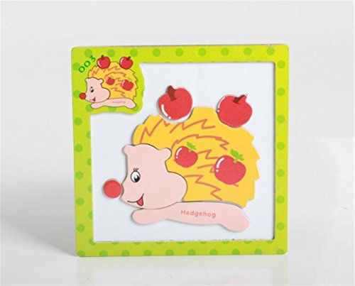 Sevenpring Child Learning Puzzle Wooden Magnetic Peg Puzzle Safe Education Learning Toy Fantastic Gifts for Kids(Hedgehog) ()