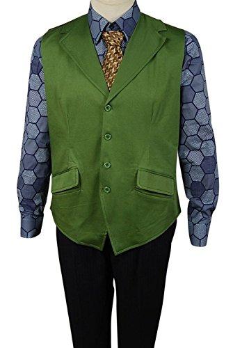 Joker Suit Shirt (Mens Winter Long Trench Coat Villainous Joker Cosplay Halloween Costumes)