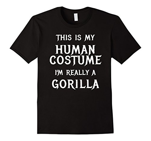 Mens Gorilla Halloween Costume Shirt Easy Funny for Men Boys Girl XL Black - Easy Diy Halloween Costumes For College Girls