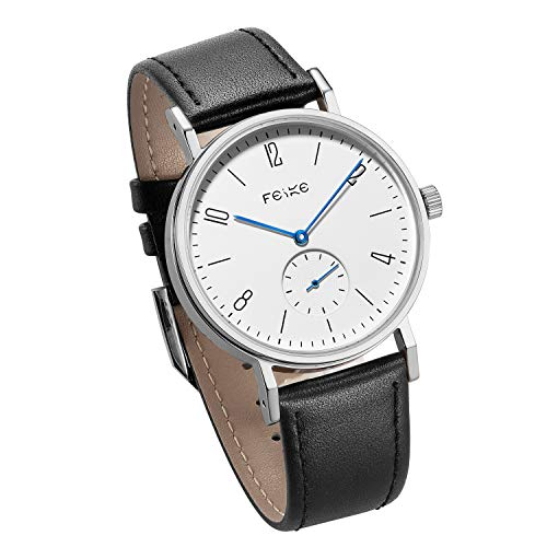 FEICE Men's Automatic Watch Mechanical Watch Minimalist Bauhaus Casual Watches for Men Analog Stainless Steel Leather Band Waterproof #FM201 - Mechanical Watch Automatic