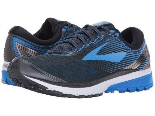 Brooks(ブルックス) メンズ 男性用 シューズ 靴 スニーカー 運動靴 Ghost 10 - Ebony/Metallic Charcoal/Electric Brooks Blue [並行輸入品] B07C8FXB5K