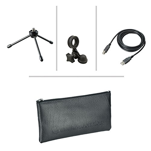 Audio-Technica AT2020USB+ Cardioid Condenser USB Microphone Bundle with Headphones, Pop Filter, Cable Ties, and Austin Bazaar Polishing Cloth by Audio-Technica (Image #3)