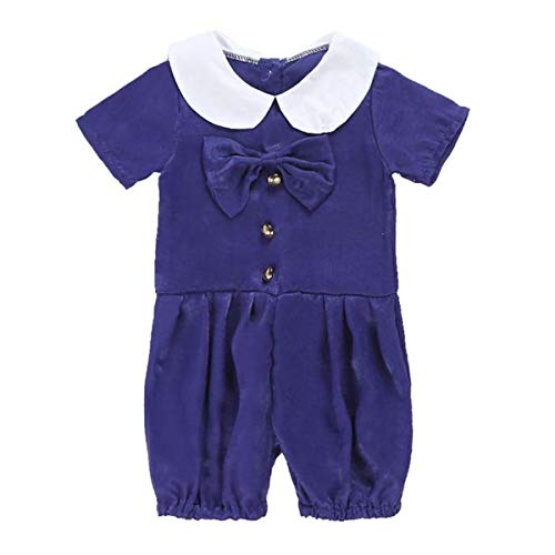 - Peter Pan Collar Button Bow Romper Jumpsuit Bodysuit Playsuit forBaby Cute Sweet Girls (Color : 110)