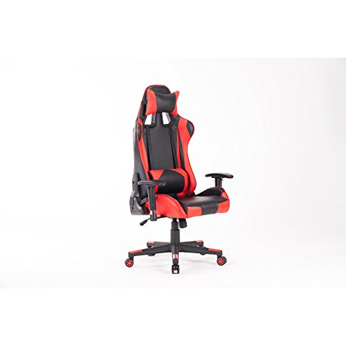 HIgh-Back Gmaing Chair Racing Office Chair Executive Swivel Leather Chair Racing Style With Headrest And Lumbar Support BLACKBRED Ergonomic Computer Chair With Lumbar Support And Headrest HOMEFUN by HOME FUN