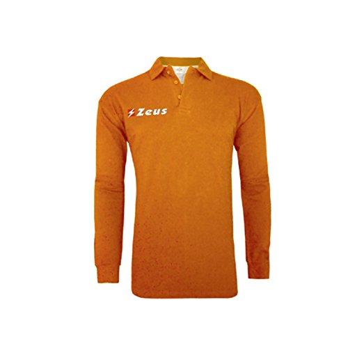 Zeus Herren Polo Shirt Training Fußball Fitness Sport POLO BASIC M/L ORANGE (2XL)