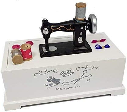 Madera nähkästchen Color Blanco – Costurero Máquina de coser ...