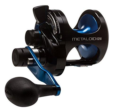 Fishing Reel 2 Speed (Okuma M-12IIB Metaloid 4BB 4.7:1 & 2.1:1 Machined Aluminum 2 Speed Lever Drag, 420/25, Right Hand)