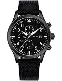 Black fabric watch band watch box 2017 high-end automatic mechanical watches Swiss AI wave military pilots (Belt)