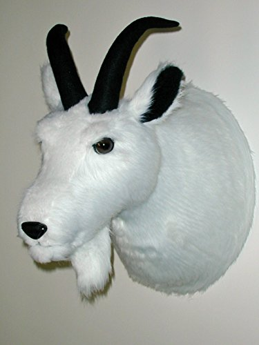"Plush Mountain Goat Head""Vinnie Van Goat"" Large Trophy Mount made in Maine"