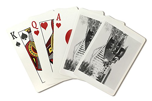 (Police outside the Treasury Building Photograph (Playing Card Deck - 52 Card Poker Size with Jokers))
