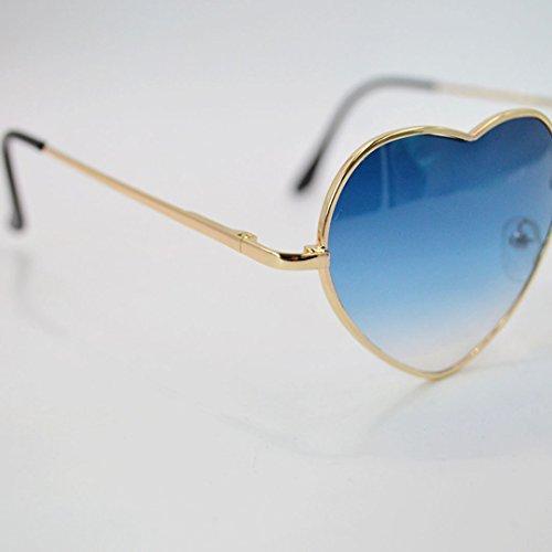 métal monture dégradé de couleur Lunettes lunettes Hommes millya coeur en Bleu Lunettes forme de soleil en de soleil FZxfO8