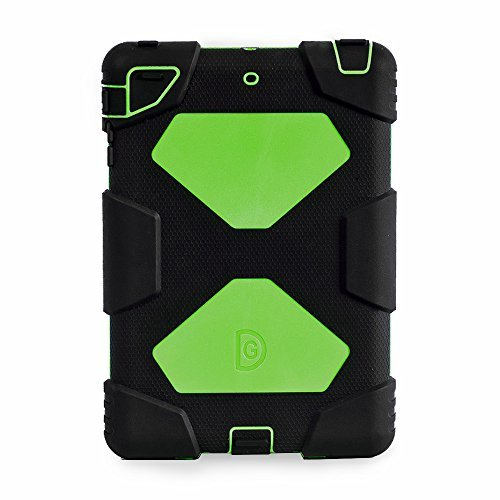 Aceguarder Water-Proof Shock-Proof Mini Case for Ipad Mini, 1, 2, 3 - Black & Green