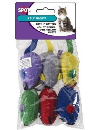 Spot Ethical Felt Mice Cat Toy 6 per (Soft Cat Toys)