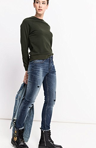 Blau Lorraine 9383 Skinny premium Blue Mujer Jeans Medium Vaqueros Para Wash His PqY50x