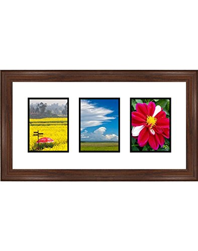 Frames By Mail Triple Square Opening Collage Frame for 3.5""
