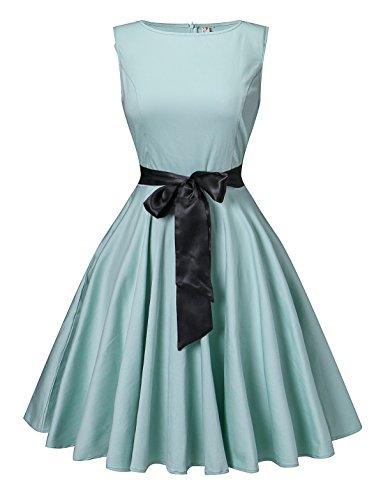 50s style boat neck dress - 7