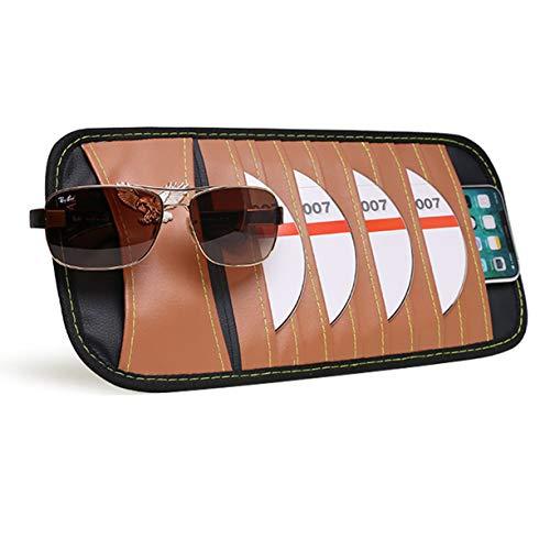 VXAR CD DVD Sun Visor Organizer Holder Car Detachable PU Auto Multi-Purpose Bag Sunglasses Eagle Badge Vehicle-Mounted 10 (Dvd Visor Organizer)