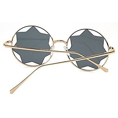 2e43a097211 Round Sunglasses Trendy Unisex Glasses Star Mirrored Lens Circle Sunglasses  guoxuan STY3434 Sunglasses   Eyewear C1