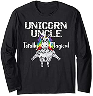Best Gift Unicorn Uncle Totally Magical New Uncle Gift Long Sleeve  Need Funny TShirt / S - 5Xl