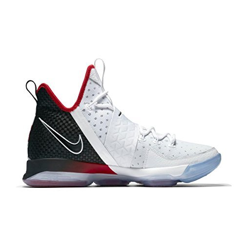 955ad18bc33e NIKE Lebron XIV (GS) Youth Basketball Shoe White Black University Red 7Y