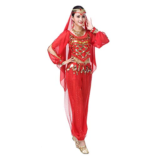 Maylong Womens Long Sleeve Harem Pants Belly Dance Outfit Halloween Costume DW66 -
