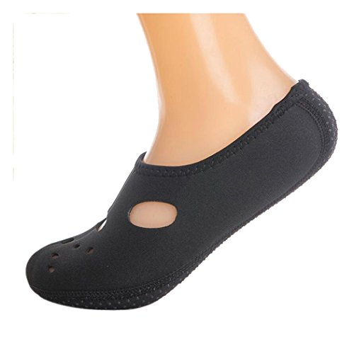 Inkach Water Sport Shoes - Unisex Quick-Dry Barefoot Skin Aqua Socks Yoga Pool Surf Water Shoes Black h8u9UcM