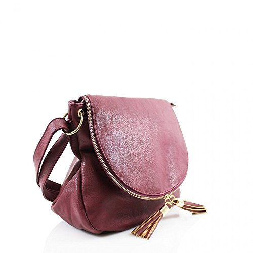 Body D15cm Messenger Handbags Shoulder Women's Fashion Designer CWRB15112 Bags CWS00433 CWS00428 Leather Quality Zipper x W36cm Ladies H28cm BURGUNDY x Cross Celebrity Faux qB7PxBw