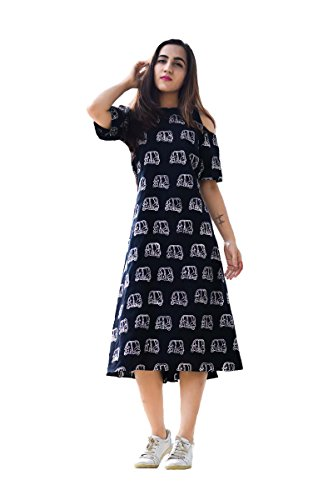 Royal Export Women's A-Line Knee-Long Dress