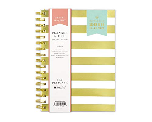 Edition Limited Frosted Clear - Day Designer for Blue Sky 2019 Weekly & Monthly Planner and Notebook, Flexible Frosted Cover, Twin-Wire Binding, 5.8