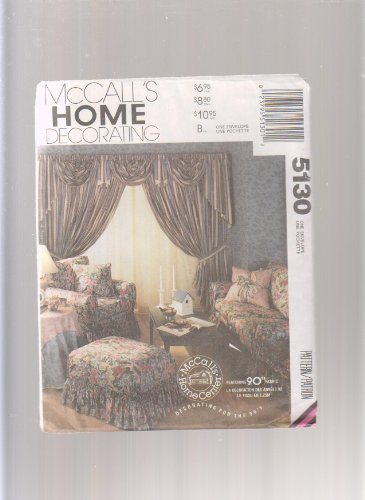 McCall's Home Decorating Slipcovers, Duvet Cover, Pillow Shams, Tablecloth Sewing Pattern 5130 (Duvet Cover Sewing Patterns compare prices)