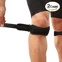 AGPtek Ultra Flex Breathable Knee Brace Support Neoprene Sleeve - Active Wear, Adjustable Size,Anti-slip Silicon, Blac