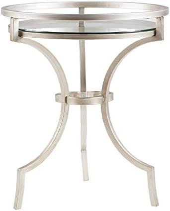 Madison Park Accent Table Griffin Silver Metal
