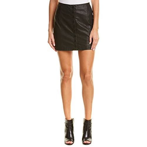 Hot Free People Women's 'Oh Snap' Faux Leather Miniskirt for sale