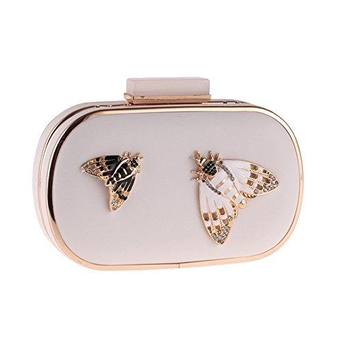 Crossbody Leather Bag White Banquet PU Bag Chain Temperament Butterfly Dinner Evening Bag Clutch Ladies Handbag Fashion Bag x4I6nq