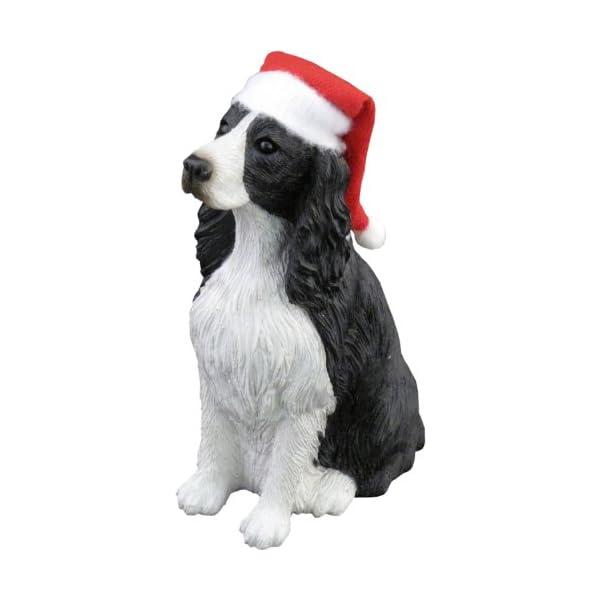 Sandicast Springer Spaniel with Santa Hat Christmas Ornament 1