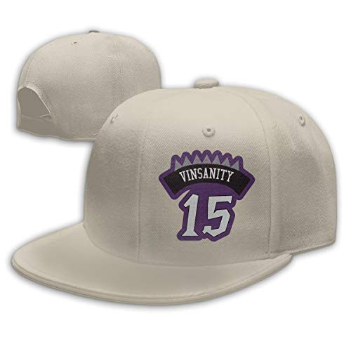 Men Women Vince-Carter 15# Baseball Cap Classic Adjustable Plain Hat ()