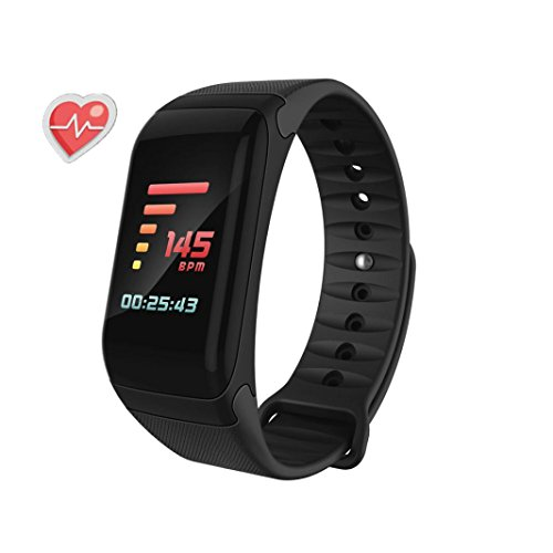 T1 Remote Module (Fitness Tracker, Activity Tracker Watch With Heart Rate Monitor, Waterproof Bluetooth Sport Smart Bracelet (Black))