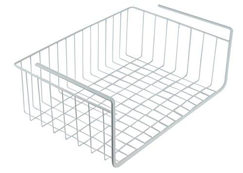 17 Inch Accessory Shelf (Southern Homewares White Wire Under Shelf Storage Organization Basket, 17