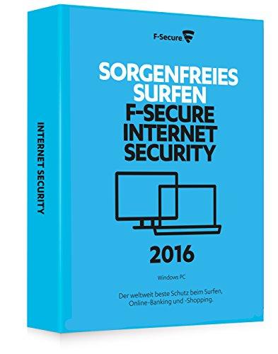 F-Secure Internet Security 2016 - 1 Jahr / 3 PCs