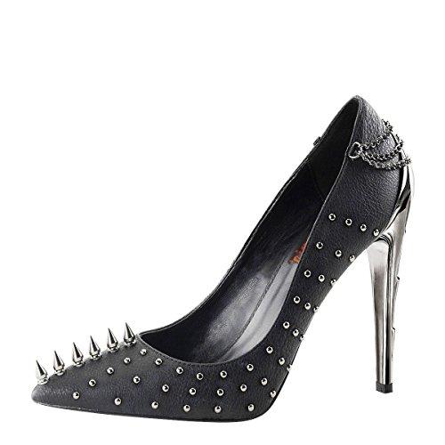 Heels-Perfect - Sandalias de vestir de Material Sintético para mujer Schwarz (Schwarz)