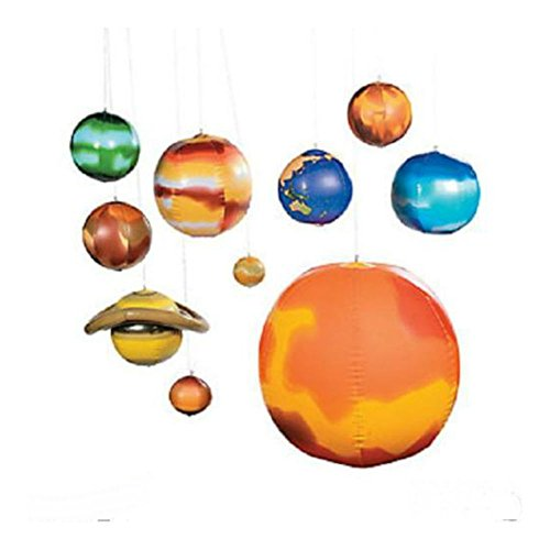 10 pc Set School Science Project Classroom Space Planets INFLATABLE SOLAR ()