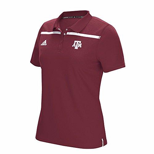 adidas Texas A&M Aggies NCAA Sideline Climacool Performance Polo T-Shirt Women's (Sideline Shirt Polo Adidas)