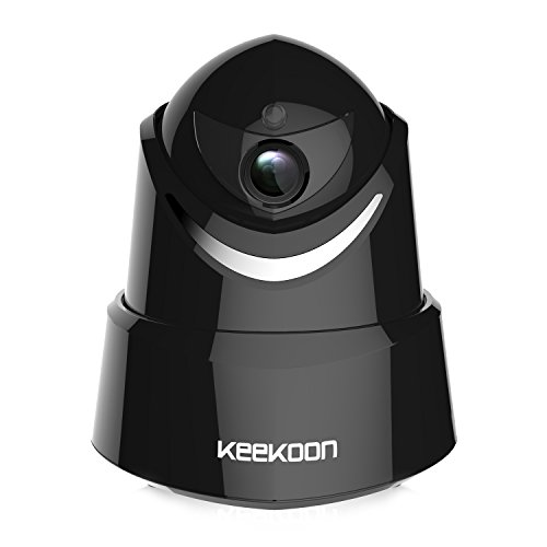 KEEKOON 1080P Wireless Wifi Home Surveillance Security Monitoring Camera Indoor Security Camera with Pan/Tilt Motion Detection Night Vision Two-Way Audio Pet Monitoring Camera(Black)