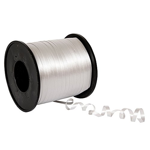 Silver Curling Ribbon, 500 Yd.