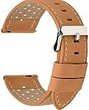 時計バンド ベルト、Fullmosa全5色スマートウォッチバンド ベルト 腕時計バンド 交換ベルト本革 レザー 18mm 20mm 22mm 24mm